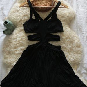 Goldie London Black Cage Cut Out Dress *NWT*